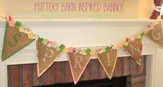 Pottery Barn Inspired Spring Banner (free patterns!).