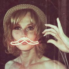 neon mustache, made by Jeroen Gordijn