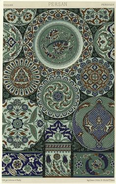 persian pottery design