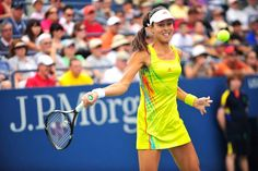 Ana Ivanovic (SRB)[12] in action against Elina Svitolina (UKR) in the first round. - Andrew Ong/USTA #USOpen