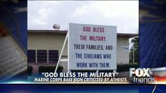 "I'm not sure who this is hurting. It's not about civil rights- it's about control. A civil rights watchdog group is crying foul over a ""God bless the military"" sign at a Hawaii Marine Corps base, claiming the display violates the U.S. Constitution."