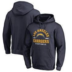 Los Angeles Chargers NFL Pro Line by Fanatics Branded Full Back Big & Tall Pullover Hoodie - Navy