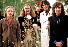 Crosby, Stills, Nash and Young. Stephen Stills, David Crosby, Neil Young, Graham Nash; Crosby was formerly in The Byrds, and Nash in British group, The Hollies. All except Nash were in Buffalo Springfield.