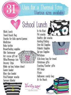 #31uses - Thermal Totes by Thirty-One. Click to order. Join my VIP Facebook Page…
