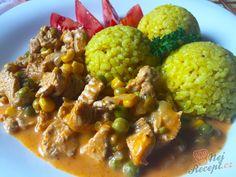 Rychlý oběd na stole. Kuřecí nebo krůtí prsa jsou u nás k obědu docela často. Orestované na oleji, smažené, pečené v troubě - existuje mnoho způsobů jak masíčko připravit. Stačí pouze trošku fantazie a chutný oběd je na světě. Autor: Mineralka One Pot, Ketchup, Ham, Cauliflower, Curry, Chicken, Vegetables, Cooking, Recipes