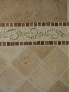 mosaic tile wall