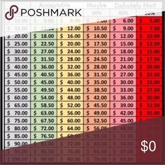 Make an offer guidlines Please refer to this chart before submitting an offer. I price my closet items fairly low already. Items are in good to excellent shape and prices are marked accordingly. I do accept fair offers and encourage offers. Thank you and Happy Poshing! Other