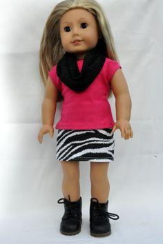 American+Girl+Doll+Clothes+Zebra+Print+Mini+Skirt+by+CircleCSewing,+$15.00