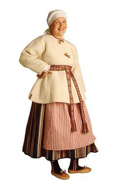 Seiskarin naisen puku. Kuva © Markku Nyytäjä Ukraine, Folk Costume, Costumes, Fur Trade, Ader, Traditional Dresses, Folklore, Finland, Scandinavian