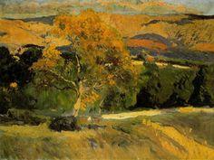 wetreesinart:  Joaquin Sorolla, The Yellow Tree-La Granja,1906.
