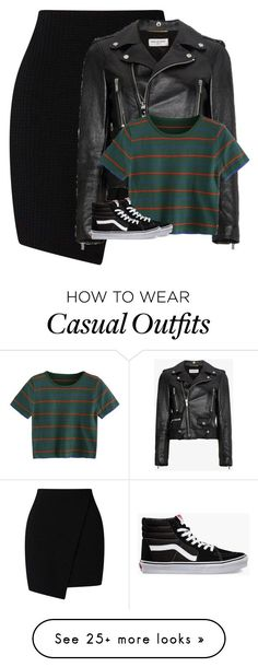"""Sin título #1892"" by xrocsix on Polyvore featuring Yves Saint Laurent and Vans #polyvoreoutfits"