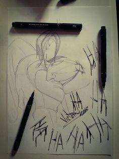 Desenho finalizado CORINGA E ARLEQUINA