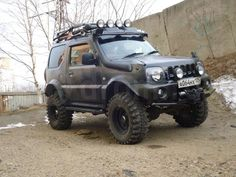 Risultati immagini per suzuki jimny тюнинг Suzuki Jimny Off Road, Jimny Suzuki, Mini 4x4, Samurai, Best 4x4, Grand Vitara, Japan Cars, Expedition Vehicle, Big Trucks