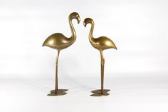 Vintage brass FLAMINGOS figurines, flaming figurines, vintage flaming, vintage brass figurines, tall bird statue, flaming brass statue by VintageEuropeDesign on Etsy