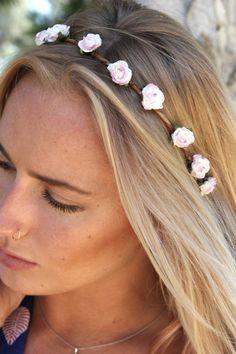 Eterie Red Flower Crown Bohemian, Gypsy Flowers Crowns,beachy hair