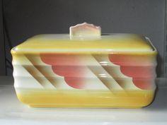 Spritzdekor Deckeldose Villeroy & Boch Art Deco   eBay