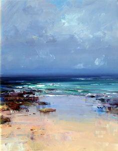 Ken Knight (Australia) is a plein air artist producing landscape paintings outside in oil in an impressionist manner. #OilPaintingOcean