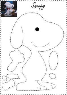 Bildergebnis für snoopy feltro passo a passo Felt Crafts Patterns, Applique Patterns, Fabric Crafts, Sewing Patterns, Sewing Toys, Sewing Crafts, Sewing Projects, Craft Projects, Felt Christmas Ornaments