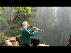 Esther Halvorson-Hill of Seraphim Nova plays a Native American flute, the spirit flute, at Barr Creek Falls in Southern Oregon. Native American Songs, American Spirit, Trauma, Spiritual Music, Reiki Music, Native Flute, Relaxing Music, Calming Music, Indian Music