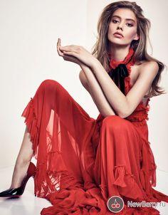Ondria Hardin на страницах Vogue China Декабрь 2015