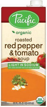 Pacific Foods Light Sodium Organic Roasted Red Pepper and Tomato Soup 32Ounce Cartons 12Pack -- To view further for this item, visit the image link.
