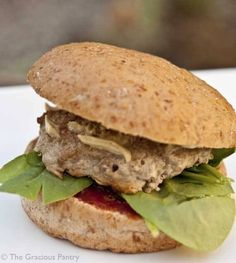 Clean Eating savory Baked Turkey Burgers