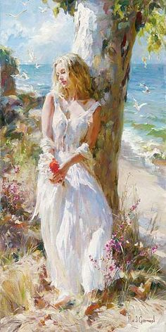 Art by Michael & Inessa Garmash painting. Woman Painting, Figure Painting, Painting & Drawing, Knife Painting, Painting Lessons, Painting Canvas, Canvas Art, Art Amour, Contemporary Abstract Art
