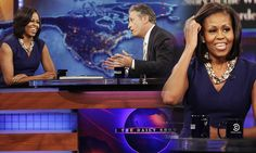Father's death made Obama realise he could do more with his life than smoke pot, Michelle tells Jon Stewart