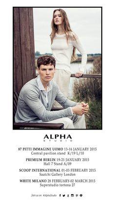Enjoy #AlphaStudio Fall Winter 2015 Collections at Pitti Uomo Premium Berlin Scoop International White Trade Show  #fw2015 #collectionpreview #PU87 #premiumberlin #ScoopAW15 #whiteshow #whitemilano #fashion #fashionfair #womenswear #menswear #knitwear #women #men #Enjoy #florence #knit