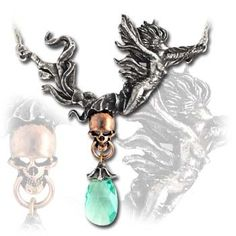 The ephemeral beauty in classic Nouveau style, spirits away the bejewelled essence of humanity; two-tone. The Spirit of Mortality. Alchemy, Steampunk, Jewlery, Gems, Bling, Pendant Necklace, Fantasy, Bracelets, Earrings