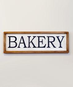 Framed Bakery Sign