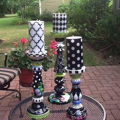 Busy dots, squiggles etc. candle sticks