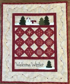 Red Button Quilt Company is a home based quilting pattern and kit business by Emily Hardwig, based in Bemidji, Minnesota. Small Quilts, Mini Quilts, Christmas Sewing Projects, Christmas Quilting, Christmas Patterns, Log Cabin Quilts, Log Cabins, Welcome Winter, Snowman Quilt