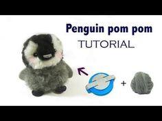 Legendär Penguin Pom Pom Tutorial Today I shared making a penguin pom pom . Cute Crafts, Craft Stick Crafts, Diy And Crafts, Crafts For Teens To Make, Easter Crafts For Kids, Pom Pom Tutorial, Pom Pom Animals, Pom Pom Maker, Pom Pom Crafts