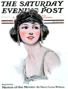 Saturday Evening Post 1922  Notice the forward headband and cute bob