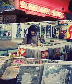 Bleecker bobs record store #NYC