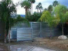 corrugated metal fence ideas | 7,702 corrugated metal fence Home Design Photos
