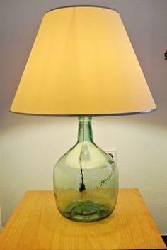 Como hacer una lampara con una botella: lampara