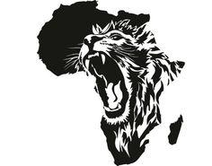 Wandtattoo Das Herz Von AfrikaAfrika Löwe Wildnis Savanne Wüste