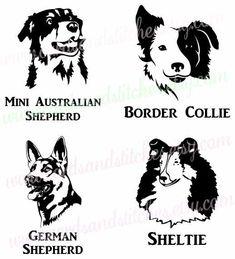 Dogs SVG - Dog Faces SVG - Dog Breeds SVG - Digital Cutting File - Cricut Cut - Graphic Design - Instant Download - Svg, Dxf, Jpg, Eps, Png by cardsandstitches on Etsy