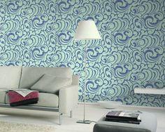 66935f366e9773 Vliestapete Messina Ornamental türkis-blau jetzt kaufen bei HORNBACH  Österreich