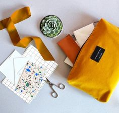 The Ochre zip pouch comes in a luxurious British velvet. This versatile product makes a cool alternative to a travel bag, pencil case, toiletries, make-up bag or even carrying a sketchbook. Designed and made in England. Eight, Cotton Velvet, Creating A Brand, Sustainable Design, Bold Colors, Colours, Travel Bag, Sustainability, Pouch