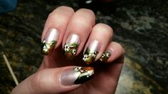Fall flower nails (inspired by Robin Moses)