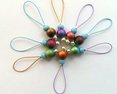 Stitch markers knitting by RosyRetro® - FAIRY TEARS £4.75