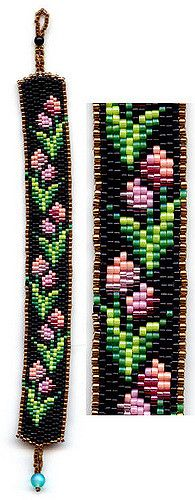 Tulips Beaded Bracelet | This was designed by Deb Moffet Hal… | Flickr