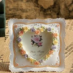 Amazon.com - Gift Garden Picture Frames - Beautiful Rose Craft Picture Frame 4x6 inch for Wedding or Table Top -
