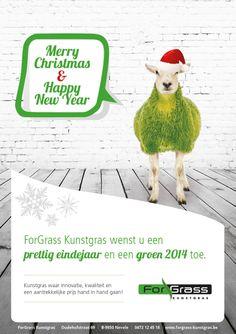 ForGrass kunstgras wenst u een prettig eindejaar en een groen 2014 toe!   www.forgrass-kunstgras.be