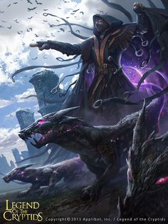 Artist: Kyu Seok Choi aka crs1009 - Title: Druid reg - Card: Deludo & the Demons Within