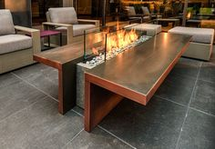 Behind a Glass Wall Outdoor Fireplace Idea - 50 Outdoor Fire. - Behind a Glass Wall Outdoor Fireplace Idea – 50 Outdoor Fire Pit Ideas that Will… Behind a Gla - Fire Pit Landscaping, Fire Pit Backyard, Fire Pit Cooking, Fire Pit Decor, Outdoor Fireplace Designs, Fireplace Modern, Outdoor Fireplaces, Cool Fire Pits, Fire Pit Furniture