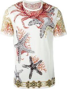97fb4fb3a0 camiseta con estampado de estrellas de mar Versace